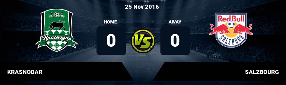Prediksi KRASNODAR vs SALZBOURG 25 Nov 2016
