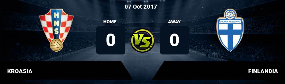 Prediksi KROASIA vs FINLANDIA 07 Oct 2017