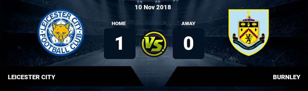 Prediksi LEICESTER CITY vs BURNLEY 10 Nov 2018