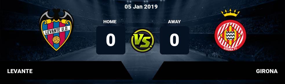 Prediksi LEVANTE vs GIRONA 05 Jan 2019