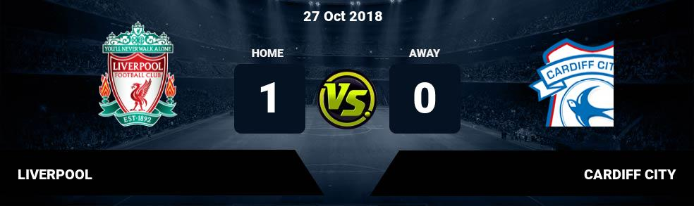 Prediksi LIVERPOOL vs CARDIFF CITY 27 Oct 2018