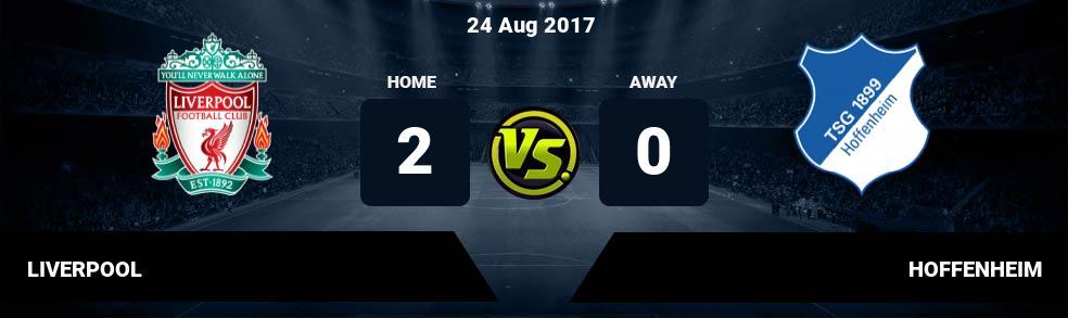 Prediksi LIVERPOOL vs HOFFENHEIM 24 Aug 2017