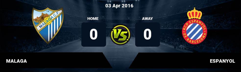 Prediksi MALAGA vs ESPANYOL 04 Feb 2017