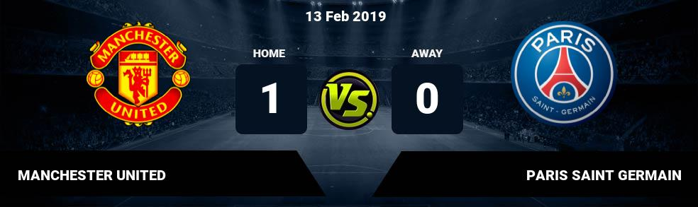 Prediksi MANCHESTER UNITED vs PARIS SAINT GERMAIN 13 Feb 2019
