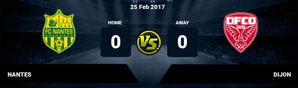 Prediksi NANTES vs DIJON 25 Feb 2017