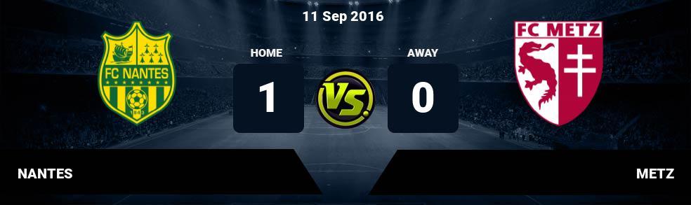 Prediksi NANTES vs METZ 01 Oct 2017