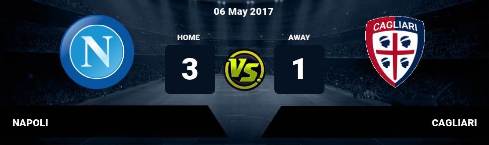 Prediksi NAPOLI vs CAGLIARI 06 May 2017