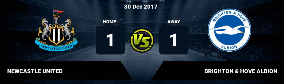 Prediksi NEWCASTLE UNITED vs BRIGHTON & HOVE ALBION 20 Oct 2018