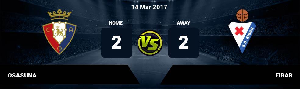 Prediksi OSASUNA vs EIBAR 14 Mar 2017