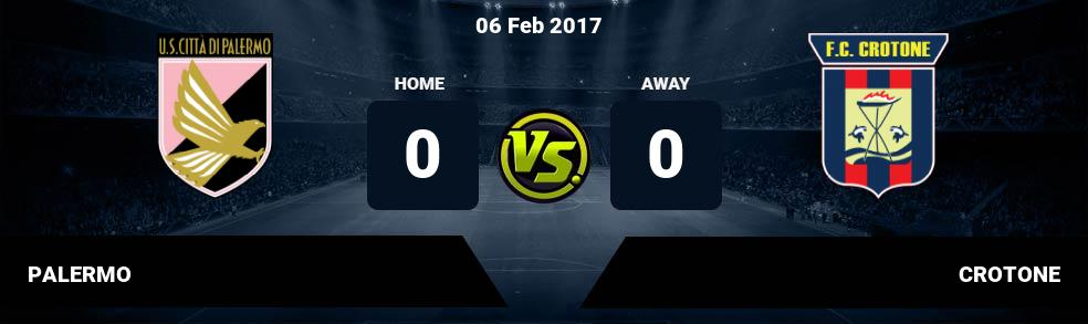 Prediksi PALERMO vs CROTONE 06 Feb 2017