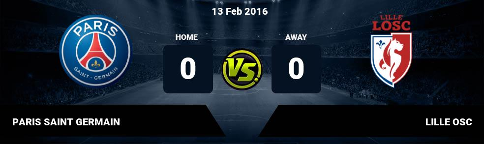 Prediksi PARIS SAINT GERMAIN vs LILLE OSC 08 Feb 2017
