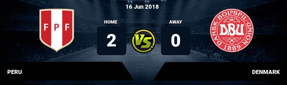 Prediksi PERU vs DENMARK 16 Jun 2018