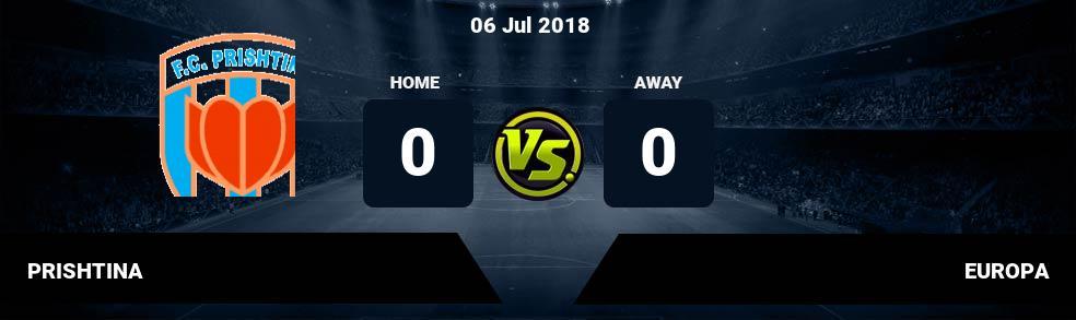 Prediksi PRISHTINA vs EUROPA 06 Jul 2018