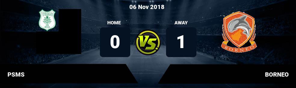 Prediksi PSMS vs BORNEO 06 Nov 2018