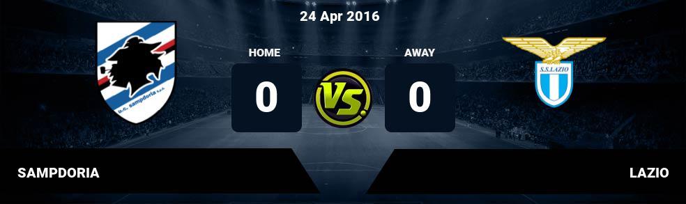 Prediksi SAMPDORIA vs LAZIO 11 Dec 2016