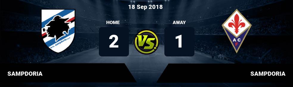 Prediksi SAMPDORIA vs SAMPDORIA 18 Sep 2018