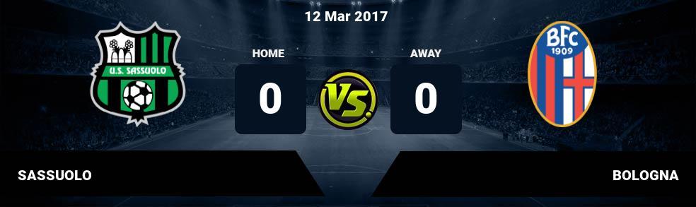 Prediksi SASSUOLO vs BOLOGNA 24 Sep 2017