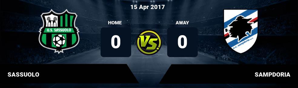Prediksi SASSUOLO vs SAMPDORIA 15 Apr 2017