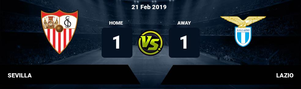 Prediksi SEVILLA vs LAZIO 21 Feb 2019