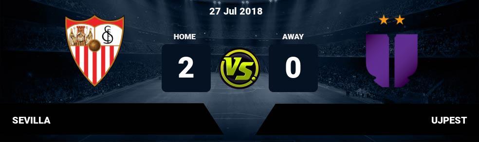 Prediksi SEVILLA vs UJPEST 27 Jul 2018