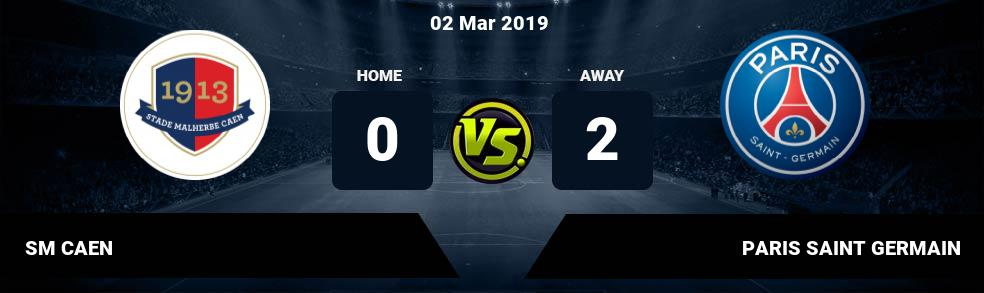 Prediksi SM CAEN vs PARIS SAINT GERMAIN 02 Mar 2019
