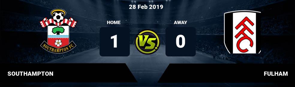 Prediksi SOUTHAMPTON vs FULHAM 28 Feb 2019