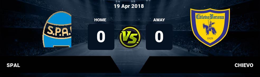 Prediksi SPAL vs CHIEVO 19 Apr 2018