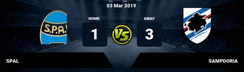 Prediksi SPAL vs SAMPDORIA 03 Mar 2019