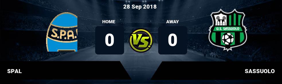 Prediksi SPAL vs SASSUOLO 28 Sep 2018