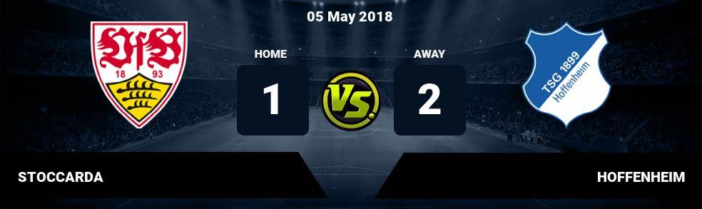 Prediksi STOCCARDA vs HOFFENHEIM 05 May 2018