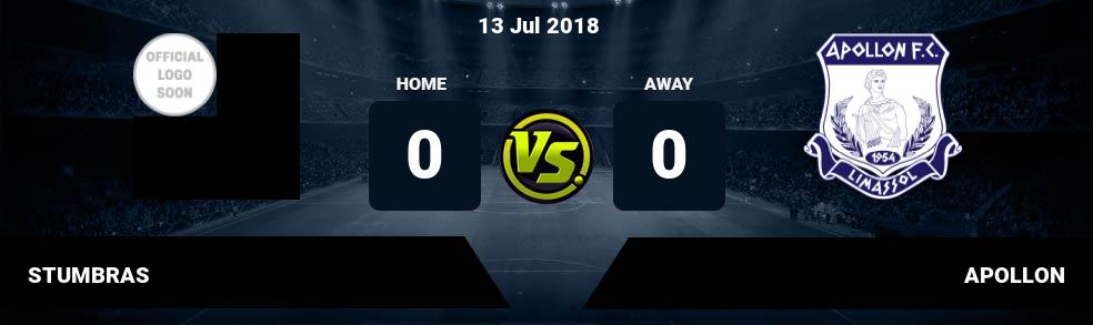 Prediksi STUMBRAS vs APOLLON 13 Jul 2018