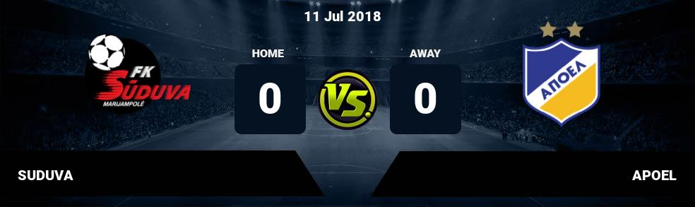 Prediksi SUDUVA vs APOEL 11 Jul 2018