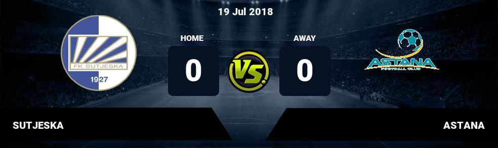 Prediksi SUTJESKA vs ASTANA 19 Jul 2018
