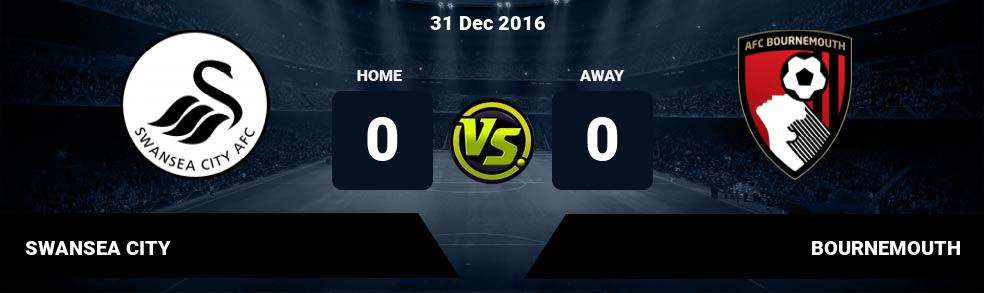 Prediksi SWANSEA CITY vs BOURNEMOUTH 31 Dec 2016