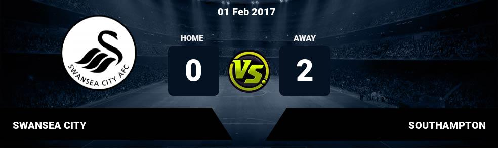 Prediksi SWANSEA CITY vs SOUTHAMPTON 01 Feb 2017