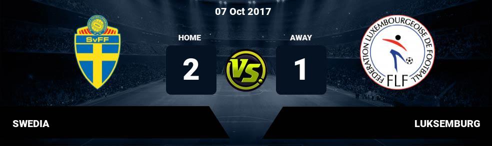 Prediksi SWEDIA vs LUKSEMBURG 07 Oct 2017