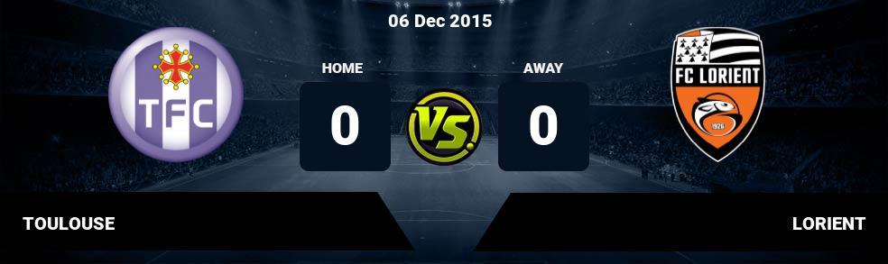 Prediksi TOULOUSE vs LORIENT 11 Dec 2016
