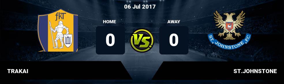 Prediksi TRAKAI vs ST.JOHNSTONE 06 Jul 2017