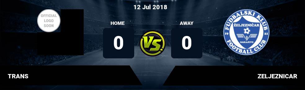 Prediksi TRANS vs ZELJEZNICAR 12 Jul 2018