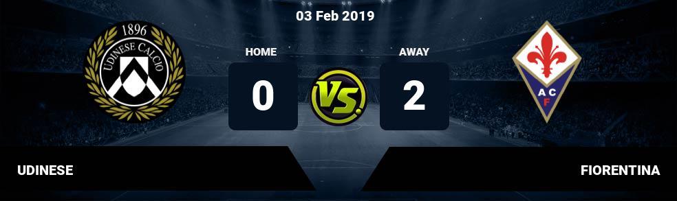 Prediksi UDINESE vs FIORENTINA 03 Apr 2018