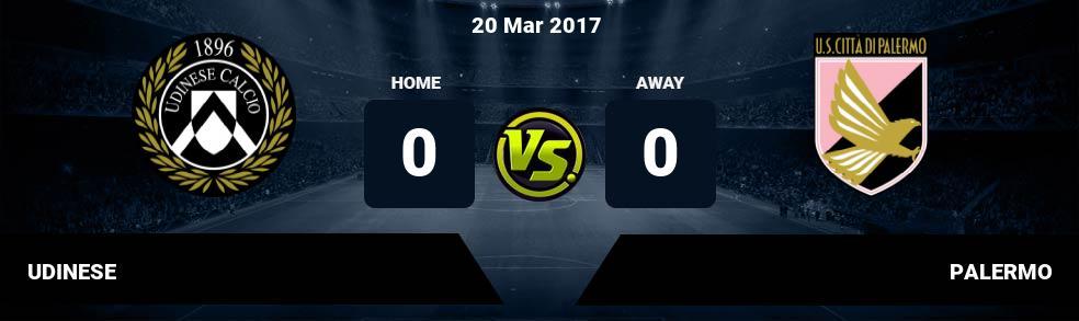 Prediksi UDINESE vs PALERMO 20 Mar 2017