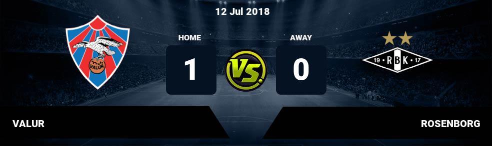 Prediksi VALUR vs ROSENBORG 12 Jul 2018