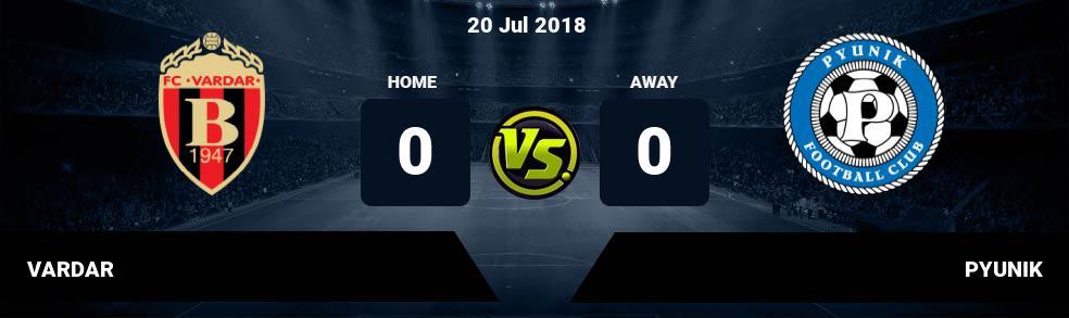 Prediksi VARDAR vs PYUNIK 20 Jul 2018