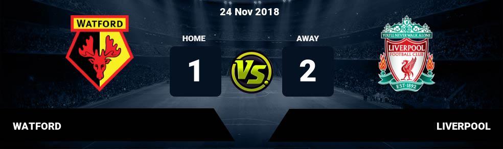 Prediksi WATFORD vs LIVERPOOL 24 Nov 2018