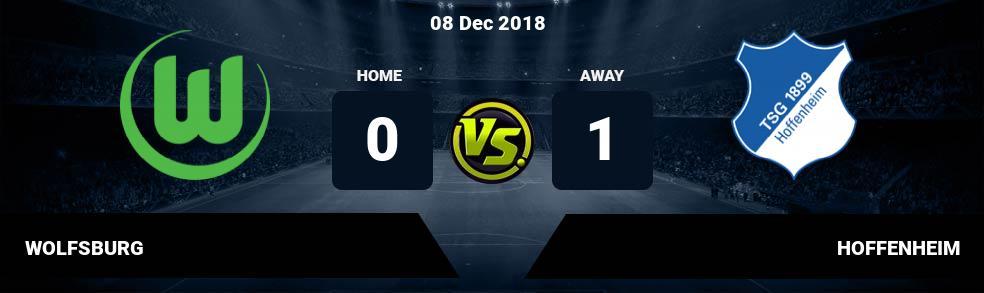Prediksi WOLFSBURG vs HOFFENHEIM 08 Dec 2018