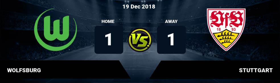 Prediksi WOLFSBURG vs STUTTGART 19 Dec 2018