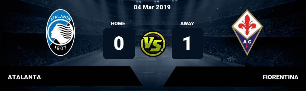 Prediksi ATALANTA vs FIORENTINA 04 Mar 2019