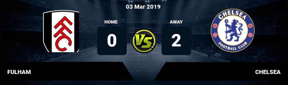 Prediksi FULHAM vs CHELSEA 03 Mar 2019