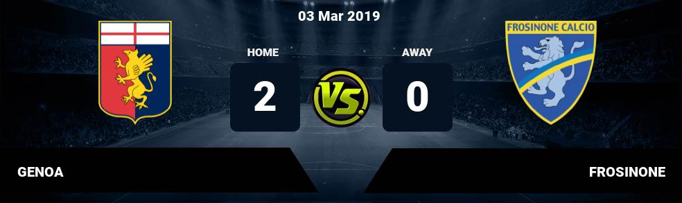 Prediksi GENOA vs FROSINONE 03 Mar 2019