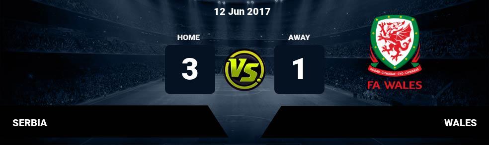 Prediksi SERBIA vs WALES 12 Jun 2017